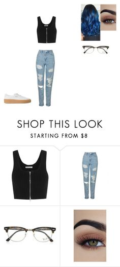 """""""Untitled #797"""" by melissaperez427 on Polyvore featuring T By Alexander Wang, Topshop, Ray-Ban and Puma"""