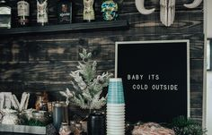 Baby It's Cold Outside: Hot Chocolate Bar Party