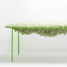 Harvest by Asif Khan- Table into planter? Use legs & a frame w/ wire & peat moss. Add lightweight soil & plants.