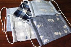花粉対策に!ガーゼマスクの作り方 | clocomi DIY Louis Vuitton Monogram, Picnic Blanket, Sewing Projects, Pattern, Crafts, Handmade, Face Masks, Wigs, Hair