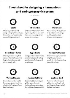 What size should your fonts be? Do you need to use a grid? And what about vertical rhythm?