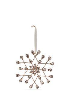 Hanging Boutique Jewel Snowflake | Marks & Spencer London