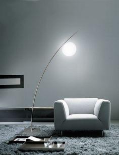 Lámpara de pie / de diseño original / de interior / de polietileno - CHARGEUR COMET - Beau&Bien