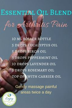If you suffer with arthritis pain, you MUST try this blend: it works miracles…