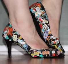 The 2015 Krewe of Janus  Mardi Gras theme is Comic Book Superheroes.  These shoes are a must - decoupage your own comic book shoes!! Don't be surprised if I show up in a pair...