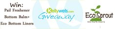 KellyWels.com Giveaway #97, Win Eco Sprout Bottom Balm+, Liners and Pail Freshener!