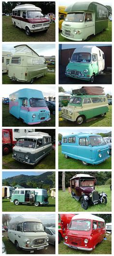 Vintage & Classic Motorhomes - photo collage