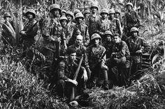 US Marine Raiders on Cape Totkins on Bougainville Soloman Islands.