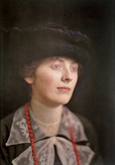 Emily Winthrop, ca. 1910, from a set of Amateur Autochromes by John B. Trevor. I don't know what it is about her, but my eyes kept wandering back to her out of the set.