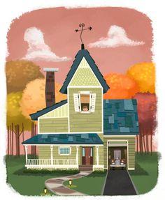Isaac Orloff --- idea of irregular tiles on house roof