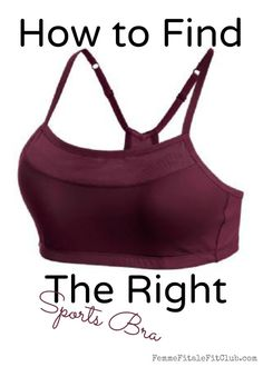 How To Find The Right Sports Bra