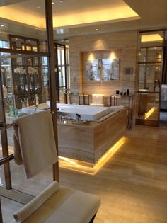 I totally fell in love with the Master Bath inside the Penthouse @Four Seasons Hotel George V Paris #Paris