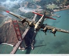 B-17 over the Golden Gate Bridge