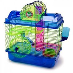 Penn-Plax Sam Here & There 4 Level Hamster Gerbil Cage for sale online Cool Hamster Cages, Gerbil Cages, Hamster Stuff, Pet Stuff, Hamsters As Pets, Cute Hamsters, Dwarf Hamsters, Rodents, Hamster Treats