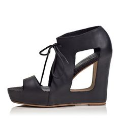 Paris Cut-Out Wedges Black, 166€, now featured on Fab.