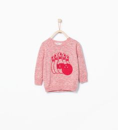 Image 1 of Bowling print contrast sweater from Zara