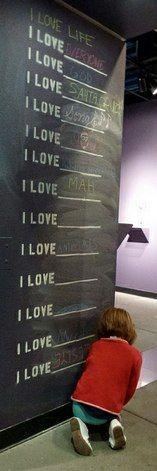 """The """"Love Lounge"""" at the Santa Cruz Museum of Art and History in Santa Cruz, California."""