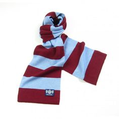 Claret and blue Minibar Cashmere Football Scarf