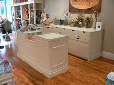 Custom Store Display Fixtures by Vintage Gardens. Many colors to choose from. Contact Vintage Gardens for custom design, measurements and colors. Click on photo to get to our website.