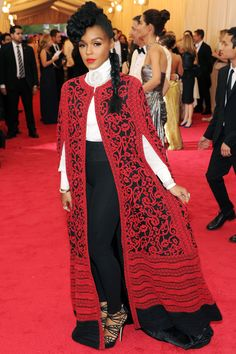 "The 21 Best Looks From The Met Ball #refinery29  http://www.refinery29.com/2014/05/67370/met-gala-best-dressed-2014#slide7  We were pretty sure we'd use an invite to the Met Ball to bust out a gown with capital-G ""Glamour."" That is, until we saw Janelle Monae killing the red carpet in this Tadashi Shoji pantsuit. We'll take ladies as elegant toreadors for evening occasions way more often, please."