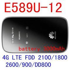 HUAWEI 4g wifi router E589 3g 4g mifi router e589-12 Mobile wifi Hotspot lte wifi dongle pk r212 e5573 e5577 E5377 E5372  — 3786.77 руб. —