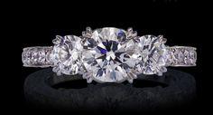 The Lazare Diamond - Virtue Pave 3-Stone Diamond Engagement Ring