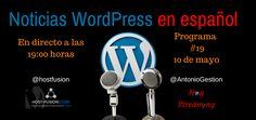 """Programa 19 de Noticias WordPress en español Vamos con la edición 19 de  Noticias WordPress en español que llega con un montón de novedades en el mundo WordPress.  En el programa de hoy, además de las secciones habituales: plugins para WordPress, avisos de seguridad, trucos, etc. hablamos de BBPress, WooCommerce, WordPress 4.8 y más temas que puedes ver en el """"anticipo del sumario"""" que tienes en el enlace."""