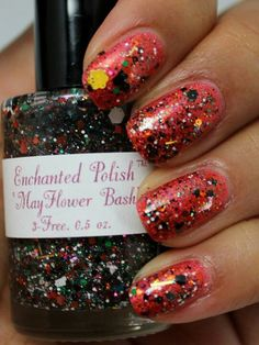 Enchanted Polish Mayflower Bash over Enchanted Polish Dragon Spit