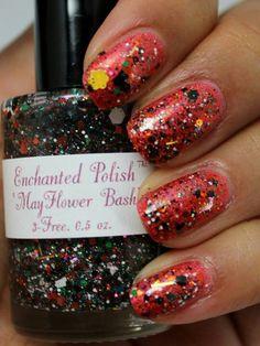 Enchanted Polish Mayflower Bash over Enchanted Polish Dragon Spit