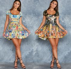 Unearthly Vs Earthly Delights Cap Sleeve Inside Out Dress - LIMITED ($180AUD) by BlackMilk Clothing