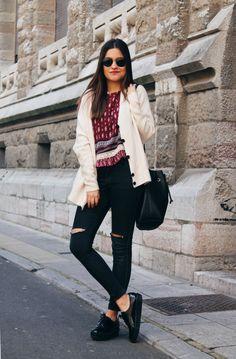 LITTLE BLACK COCONUT -  Fashion blog: Burgundy & beige