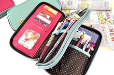 95eac75c0e Similar to our butterfly pencil pouches, this duo includes two zip up  compartments with a fun, polka dot interior. The first zip up compartment  is a wallet ...