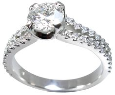 Petersens Jewellers Merivale Christchurch diamond solitaire ring with side diamonds in platinum