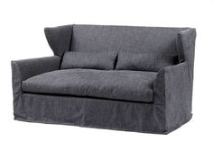 Gothic, loose cover linen sofa.