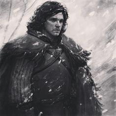 Game of Thrones - Kit Harington as Jon Snow (artist unknown)