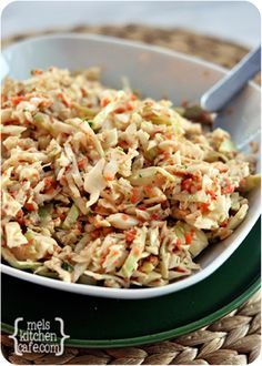 Amazing Coleslaw, I will buy the bag of slaw mix and then add the bell pepper and green onion ;)