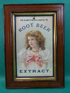 Vintage Hartshorn Root Beer Extract Advertising Sign