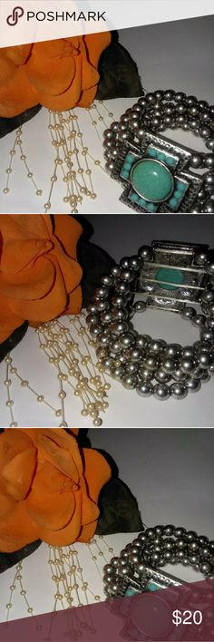 💣💥💣BLOWOUT💣💥💣BEAUTIFUL FASHION BRACELET This beautiful  silver mulit beaded bracelet with a stoned cross will enhance any attire... Comes in a gift box for giving or to Spoilurself   BUNDLE  3 OR MORE FOR BIGGER DISCOUNT kohls Jewelry Bracelets
