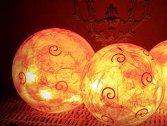 """Leuchtkugeln """"Terracotta"""" Afrika,Orientalisch von Creativablue auf DaWanda.com"""