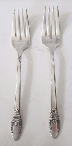 1847 Rogers Bros IS FIRST LOVE Set of 2 Salad Forks Silverplate Flatware #FirstLove #1847RogersBrosIS