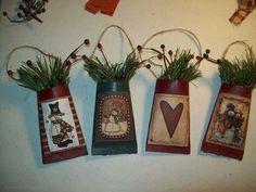 Toilet paper roll ornaments