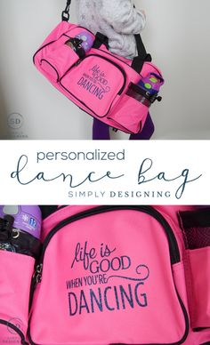 eb30375c9762 Life is Good when You re Dancing   Personalized Dance Bag