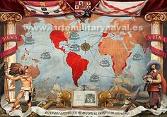 The Spanish Empire became the foremost global power and domination over the New World helped to sustain it and fund its many wars. Aztec Empire, Inca Empire, Spain History, World History, Worms Germany, Papal Bull, World Empire, Spain Culture, Holy Roman Empire