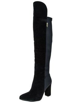 Bota Negra Beira Rio Beira Rio Knee Boots, Heeled Boots, Rio, Heels, Fashion, Shopping, Tall Boots, Over Knee Socks, Winter