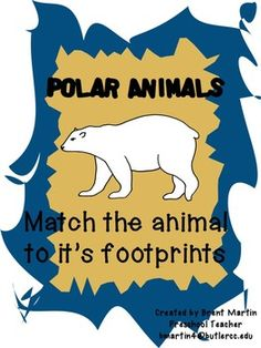 In+this+activity+children+will+be+able+to+match+the+footprint+to+the+arctic+animal+that+made+them.