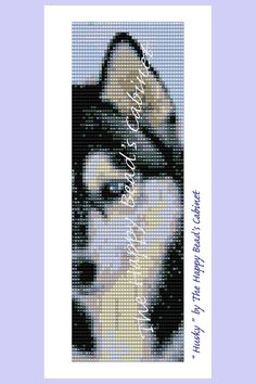 "Bead Loom Pattern , ""Husky"" - INSTANT DOWNLOAD PDF , bracelet, cuff, jewelry"