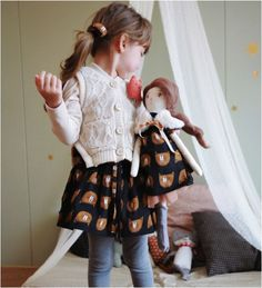 Bear Print Skirt