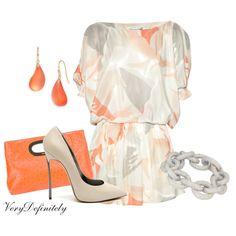 DVF Silk Dress, created by verydefinitely on Polyvore