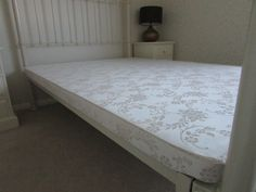 Made to measure, odd size bed base for antique brass & iron bedstead. Replacement box spring.