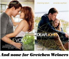 And none for Gretchen Weiners! I never made the connection before but wow Channing Tatum and the Mean Girls.